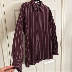 Van Heusen Striped Button Down Long Sleeve Shirt